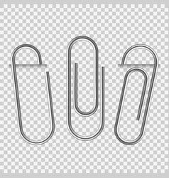 paperclip on paper silver notepapers fix clip vector image