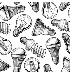 Pattern with different lightbulb vector