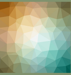 quad color polygonal background in aqua gold tone vector image