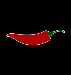 red chilean pepper vector image