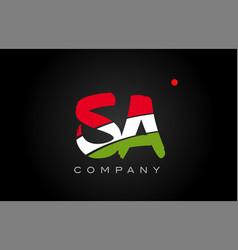 Sa s a alphabet letter logo combination icon vector