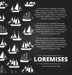 sailboats poster design vector image