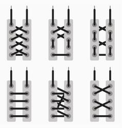schemes tying shoelaces vector image