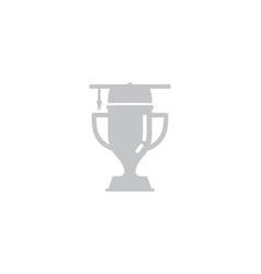 school trophy logo icon design vector image