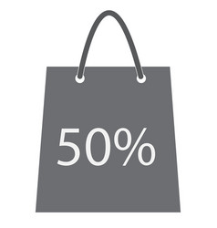 shopping bag with the sale 50 percent discount vector image