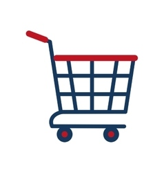 shopping cart online delivery market vector image
