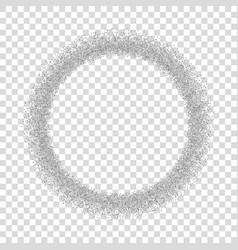 Silver circle glitter frame confetti dots round vector
