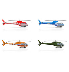 special purpose helicopters vector image