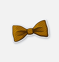 Sticker checkered retro bow tie vector