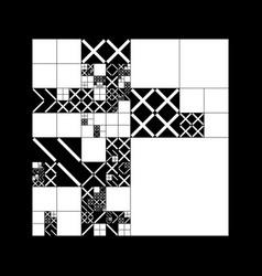 subdivided grid system with symbols randomly vector image