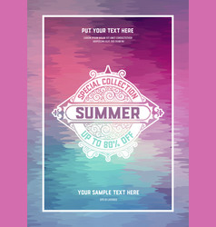 Summer card vintage style vector
