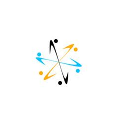 Team work logo design template vector