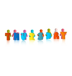 Thursday Colorful Title - Paper Cut People and vector
