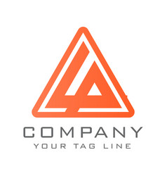 triangle logo template suitable for digital vector image