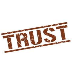 trust stamp vector image