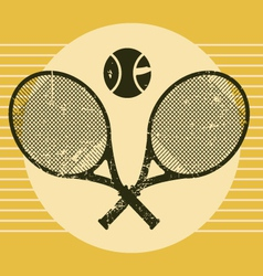 vintage tennis equipments vector image
