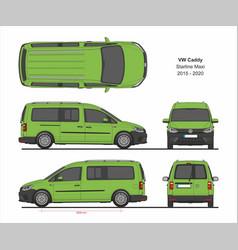 vw caddy starline maxi passenger van 2015-present vector image