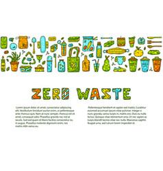 Zero waste doodle vector