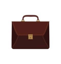 brown business briefcase vector image vector image