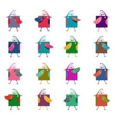 Cartoon Graphic Colorful Birds vector image