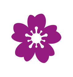 flower icon on white background vector image