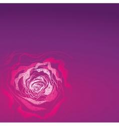 grunge rose illustration vector image
