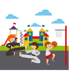 Kids and sports design vector