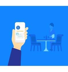 Mobile app for restaurant vector image