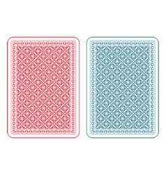 Playing cards back gamma vector image vector image