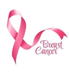 Breast Cancer Awareness Ribbon Background vector image