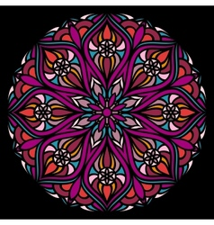 Colorful ornamental round lace vector image vector image