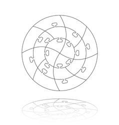 Concentric jigsaw puzzle vector image vector image