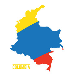 flag and map of colombia vector image vector image