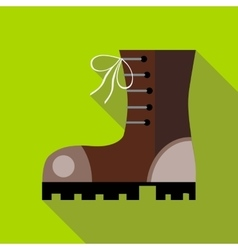 Hiking boot icon in flat style vector image