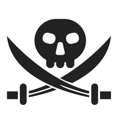 Pirate jack sign vector