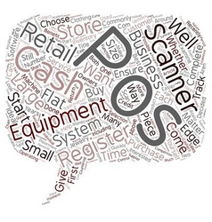 Pos Equipment Not Just For Large Retailers text vector image vector image