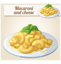 Macaroni and cheese detailed icon vector
