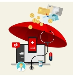 Medical health insurance protection obama care vector