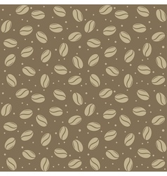 seamless coffee seed texture vector image vector image