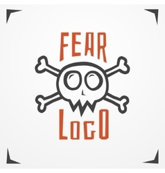 Skull fear logo vector