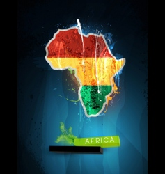 Africa poster vector image