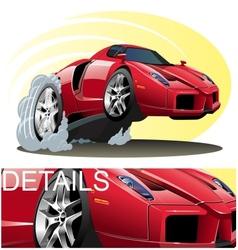 Cartoon Sportcar vector image