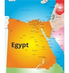 color map of Egypt vector image
