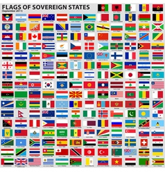 Flags of world sovereign states vector