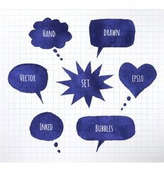 Ink speech bubbles vector image