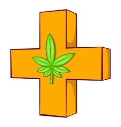 Medical marijuana sign icon vector