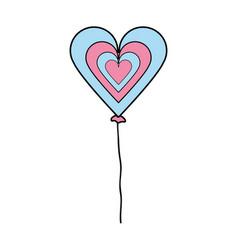 Nice heart balloon decoration design vector
