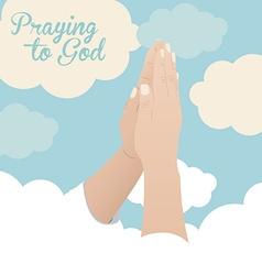 Praying to God design vector image