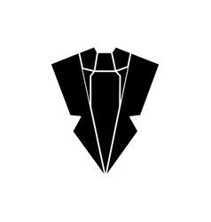 suit and tie icon sign o vector image vector image