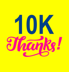 10000 followers thanks congratulations card vector